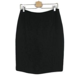 Ann Taylor LOFT Black Basic Lined Pencil Skirt